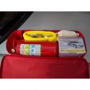 """Аварийный комплект """"СТАНДАРТ 3S+"""" (красная нейлоновая сумка, огнетушитель ОП-2(з), аптечка, знак ава"""
